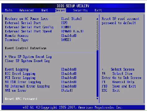 reset bios effect bios screens
