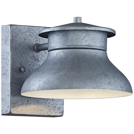 Led Energy Efficient Galvanized 5 Quot High Outdoor Wall Light Energy Efficient Outdoor Lighting