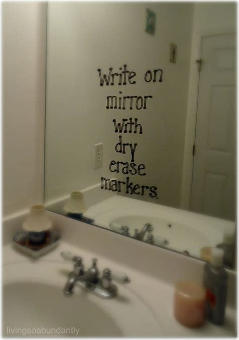 write on your mirror with erase markers its
