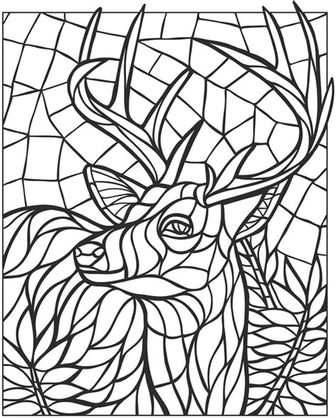 free coloring pages of mosaic animals