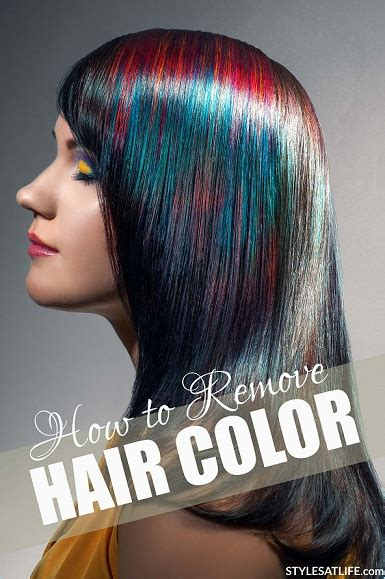 remove hair color how to remove hair color styles at