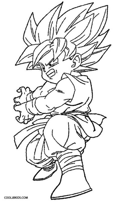 Free Coloring Pages Of Goku Coloring Pages Goku