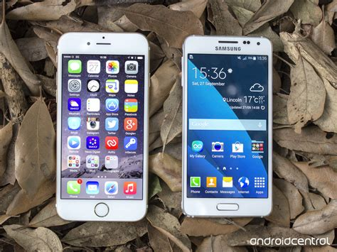 Samsung A3 Vs Iphone 5 samsung galaxy alpha versus iphone 6 android central