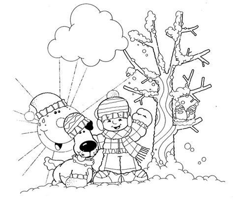 imagenes para pintar vacaciones invierno 61invierno