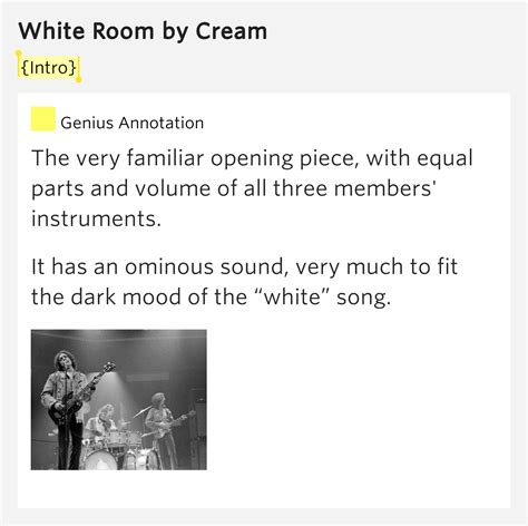 white room lyrics meaning intro white room by