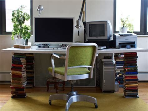 daily delight stacked book desk and a design mystery