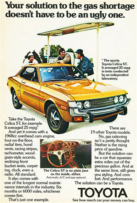 vintage toyota ad 1974 toyota celica ad cars today