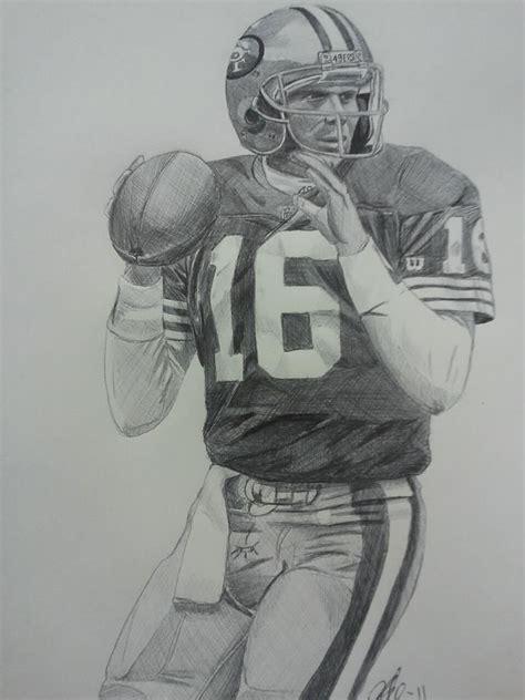49ers Sketches by Joe Montana Ink Drawing Artsy Stuff Joe