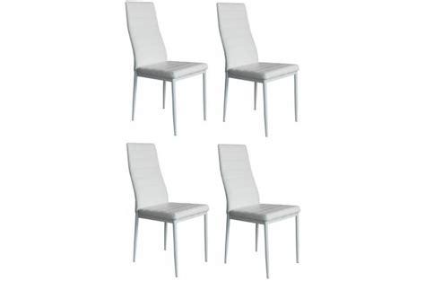 lot de 4 chaises blanches lot de 4 chaises blanches chaise design pas cher