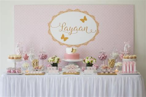 Gold Baby Shower Decorations by Pink And Gold Baby Shower