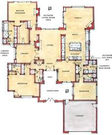 One Story Floor Plan by Single Story Open Floor Plans One Story Plan First