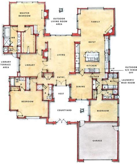 one storey floor plan single story open floor plans one story plan first