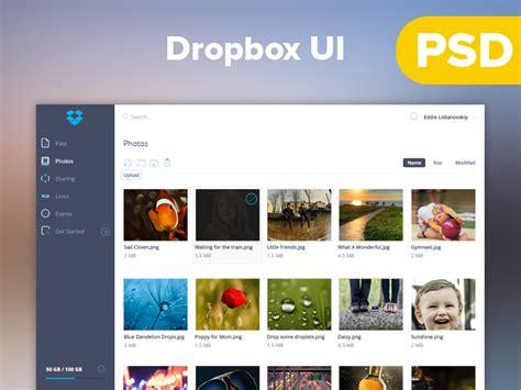 dropbox redesign dropbox dashboard redesign ui psd at downloadfreepsd com
