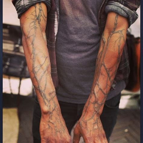 full arm and hand tattoo tree branch full arm tattoo tattoomagz