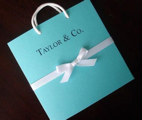 breakfast at tiffany s bridal shower invitation blue