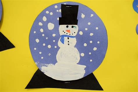 Crafts Out Of Construction Paper - snow globe craft these came out pretty and were