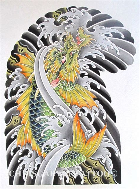 dragon koi fish tattoo koi painting chris garver koi and koi