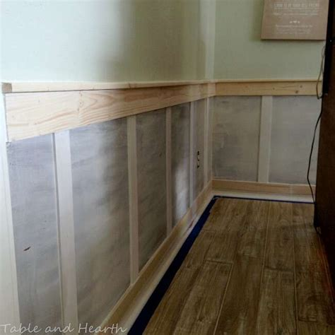 Easy Wainscoting Diy by Our Diy Board And Batten Wainscoting Table And Hearth