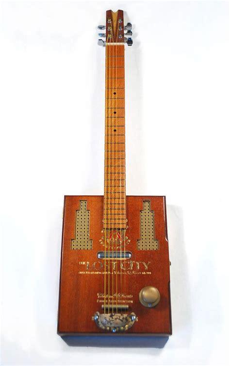 Handmade Cigar Box Guitars - the quot lost city quot six string cigar box guitar this guitar