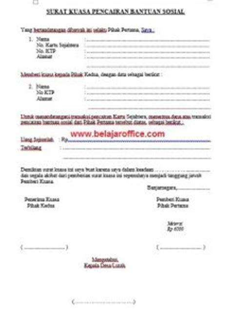 contoh surat kuasa untuk mengambil bantuan sosial