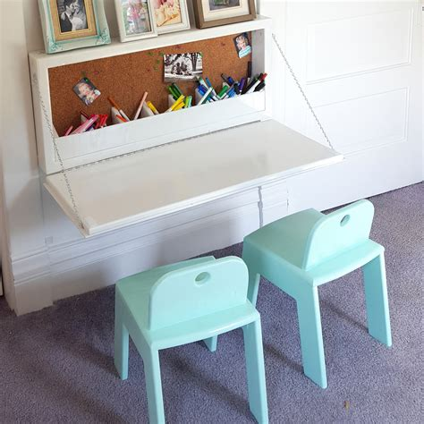 Wall Mounted Secretary Desk For Kids Sawdust And Embryos Diy Murphy Desk