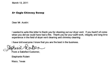 Letter For Cleaning Services Eagle Scout Commendation Letter Templates
