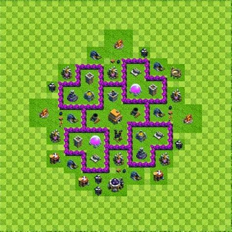 base layout town hall level 6 tipe defense coc indonesia tipe defense base layout town hall level 6 clash of clans