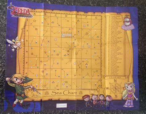 legend of zelda map poster the legend of zelda the wind waker sea chart poster game