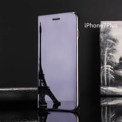 Mirror For Iphone 6 7 luxury mirror view flip stand phone cover for