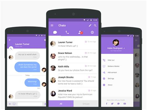 viber android viber redesign uplabs