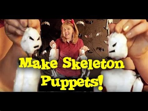 puppet linux tutorial youtube how to make a skeleton puppet prop halloween yard art