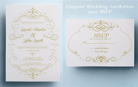 Elegant Wedding Invitation Printable | elegant wedding invitation template classic wedding