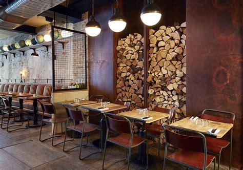 Wooden Chairs For Restaurant Restaurant In Industrial Vintage Style In Paris