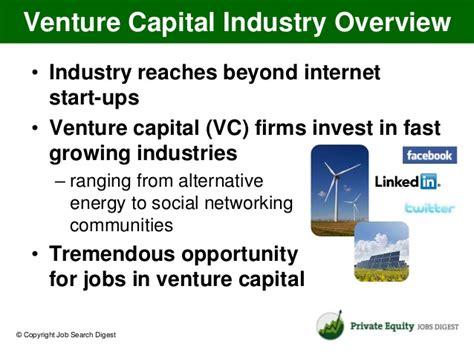 Ventrue Capital Salary Post Mba by Understanding The Venture Capital Industry