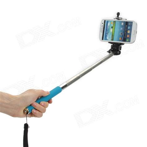 Monopod Selfie adjustable handheld selfie monopod for cellphone black blue free shipping dealextreme