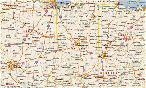 map indiana indiana map