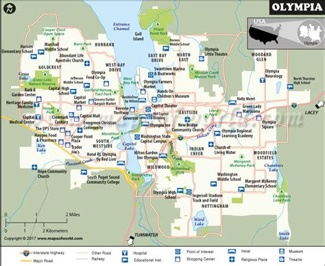 olympia washington map olympia map washington map of olympia