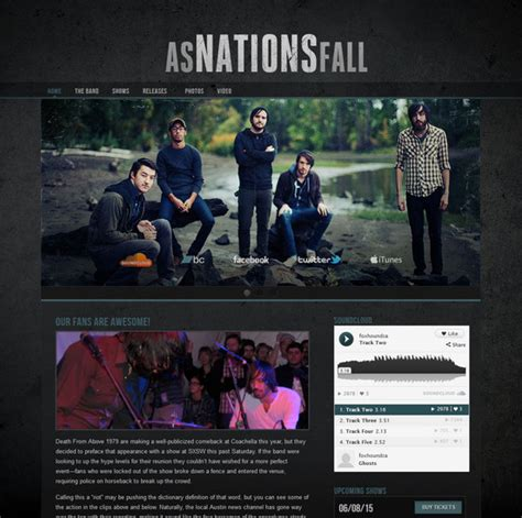 temi wordpress per rock band per realizzare siti web musicali