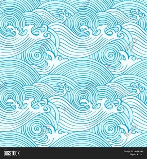 japanese wave pattern illustrator japanese seamless waves pattern vector photo bigstock