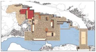 Falling Water Floor Plan by Frank Lloyd Wright S Masterpiece Fallingwater