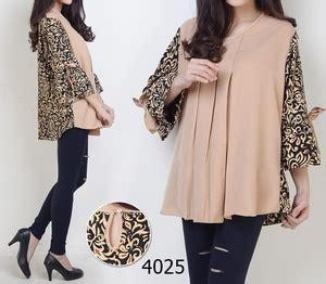 Baju Atasan Wanita Muslim Blouse Osin Jumbo 1 model baju atasan blouse muslim wanita motif batik