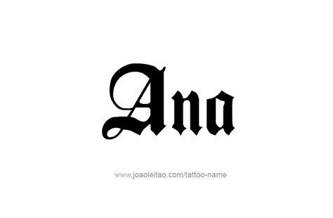 tattoo name ana ana name tattoo designs