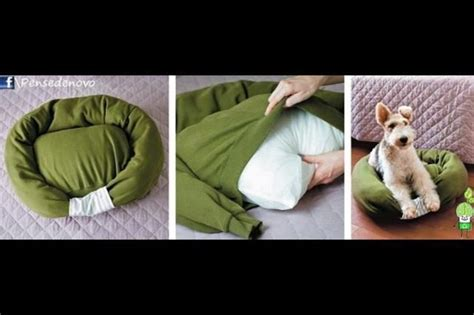 dog bed stuffing diy dog bed you will need an old sweatshirt bed pillow