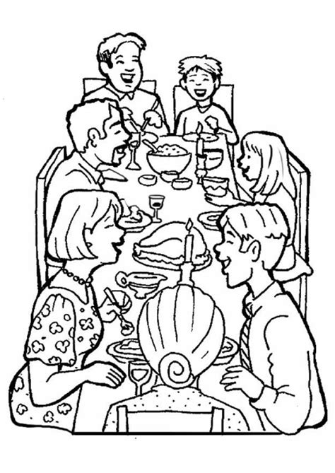 family dinner coloring page diner coloring coloring pages