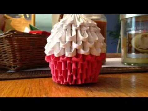 3d origami cupcake tutorial 3d origami cupcake part 1 youtube