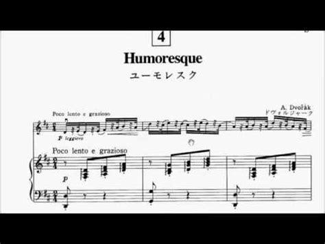 Humoresque Suzuki Book 3 Violin Suzuki Violin Book 3 No 4 Dvorak Humoresque Sheet