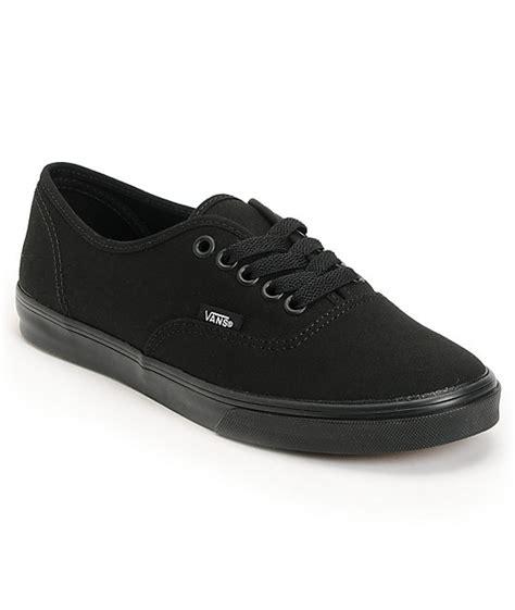 vans authentic lo pro all black shoes at zumiez pdp