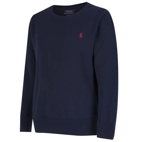 navy chunky knit jumper ralph boys navy chunky knit jumper with embroidered