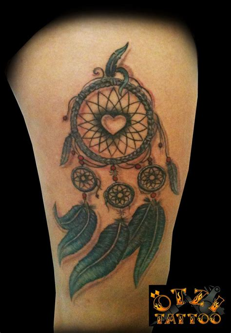dream catcher tattoo with names dreamcatcher the in the middle and