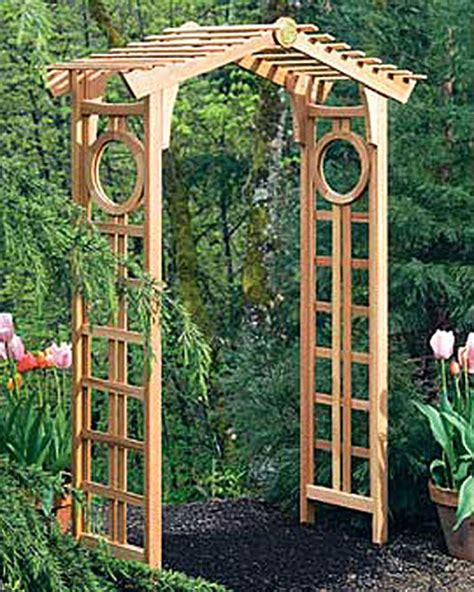 rose trellis plans longevity cedar garden arch garden arbor gardener s